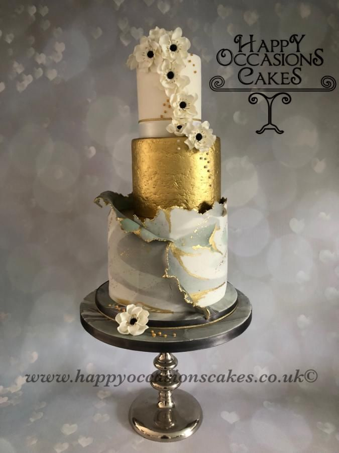 beach themed wedding cakes pinterest%0A Marble Torn wedding cake by Paul of Happy Occasions Cakes   http