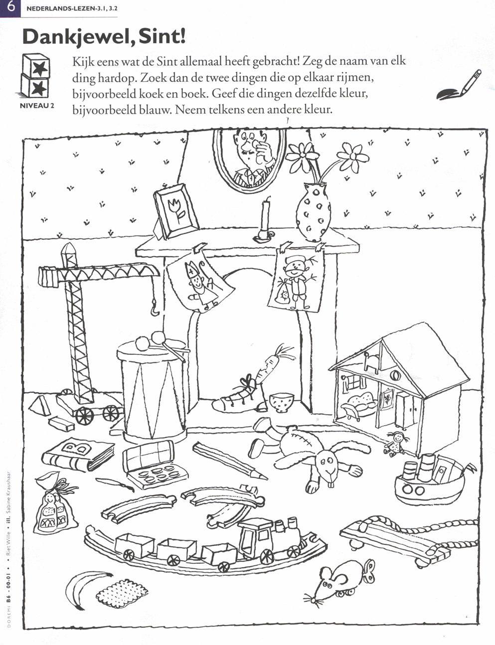 Sinterklaasthema Sinterklaas Thema Kleurplaten