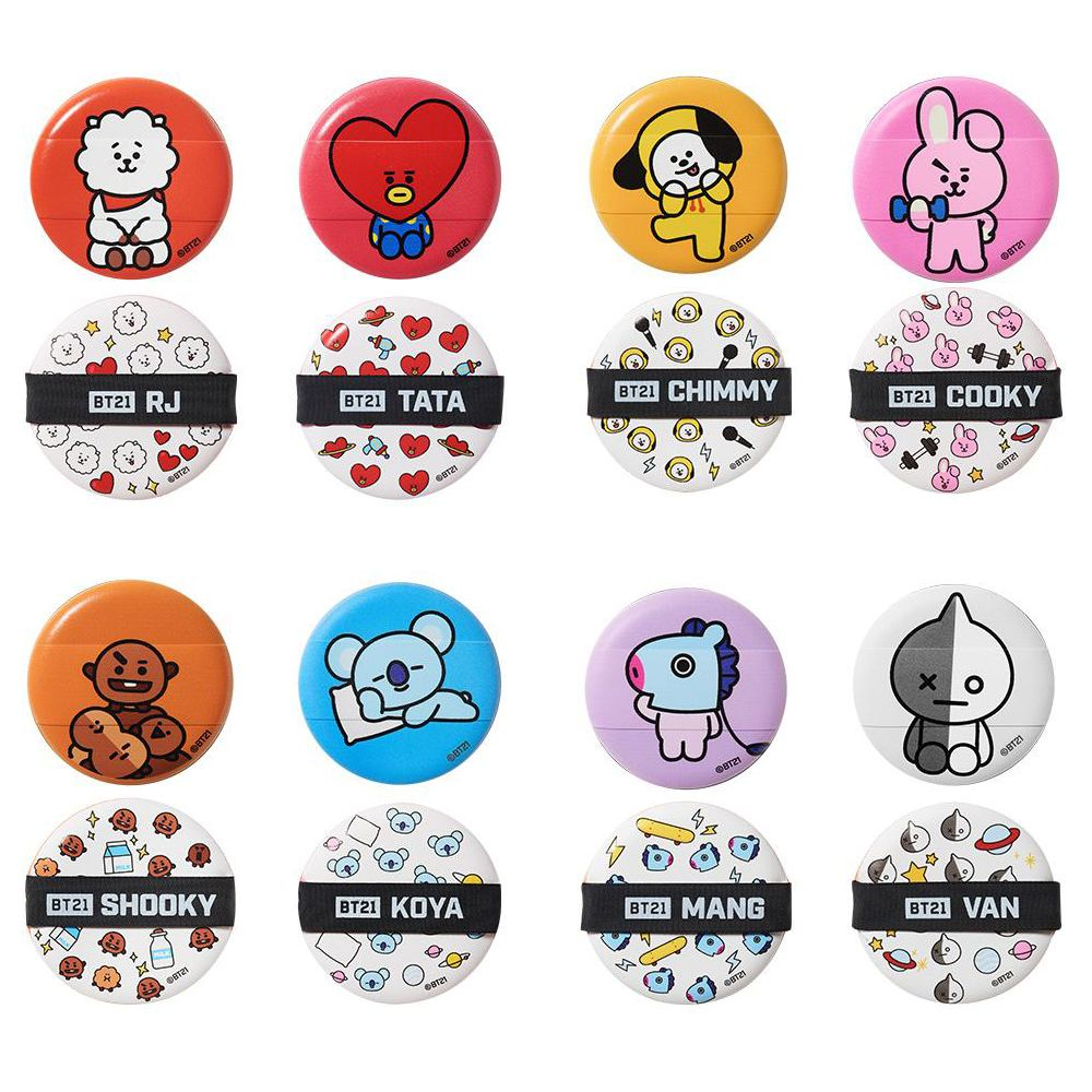 BT21 Character Makeup Puff Kit 2 pcs (RJ d83b7fb68d38