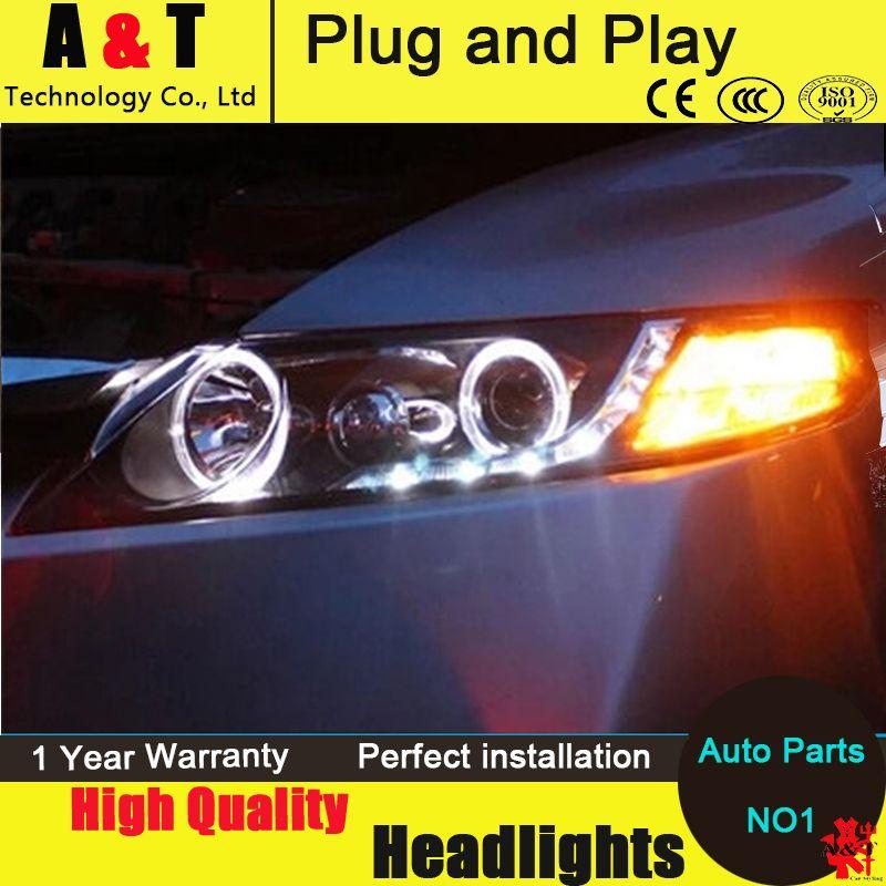 Auto Lighting Style Led Head Lamp For Honda Civic Headlights 2007 2011 Civic Led Angle Eyes Drl H7 Hid Q5 Bi Xenon Honda Civic Headlights Car Lights Headlights