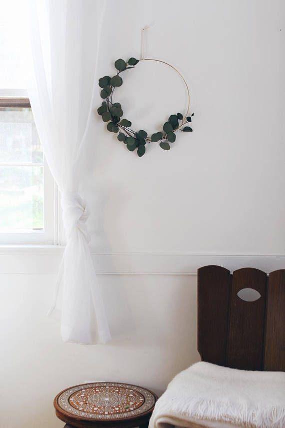 Photo of Modern Wreath | Eucalyptus Wreath | Scandinavian Wreath | Minimalist Wreath | DIY Fall Wreath | Christmas Holiday Wreath | DIY Kit
