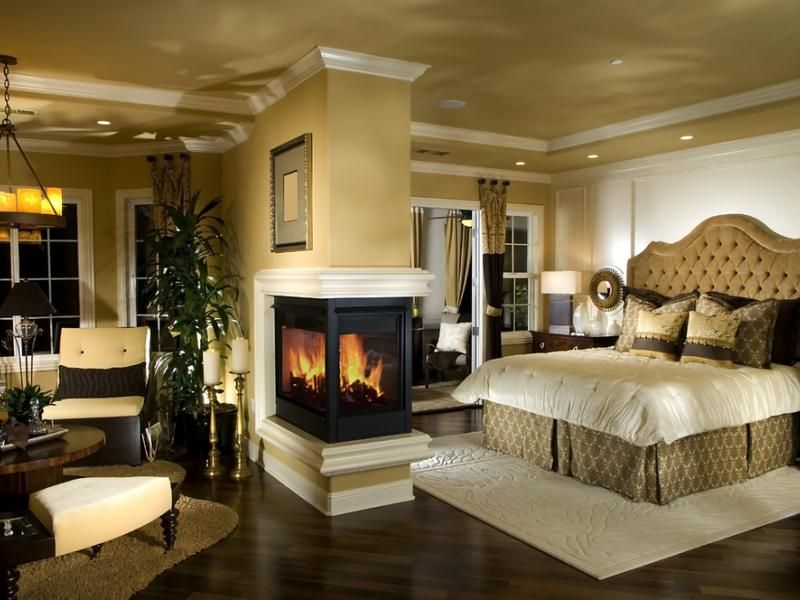 dream master bedroom%0A    Custom Luxury Master Bedroom Designs  Beautiful bedroom with fireplace  and sitting room
