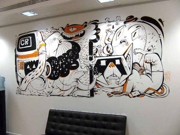 Cool Office Wall Murals Images