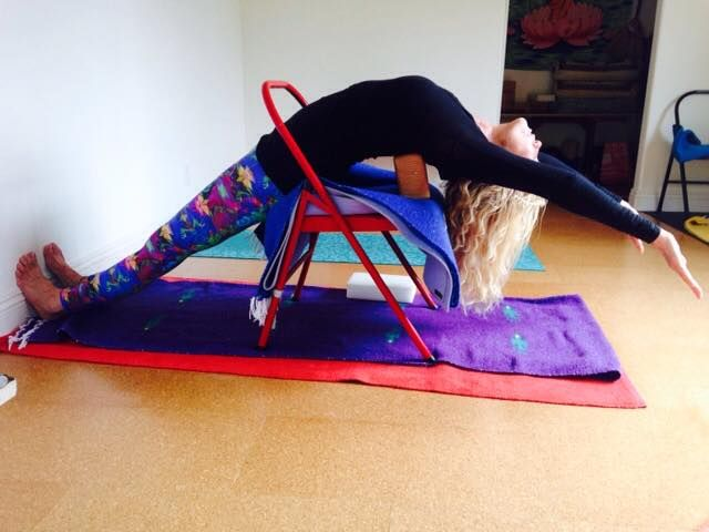Dwi Pada Viparita Dandasana Iyengar Yoga Chair Back Bends