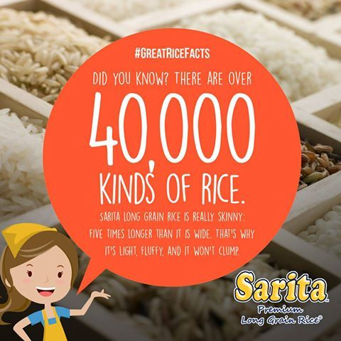 National Rice Month Fun Fact #SaritaRice #NationalRiceMonth #GreatRiceFacts