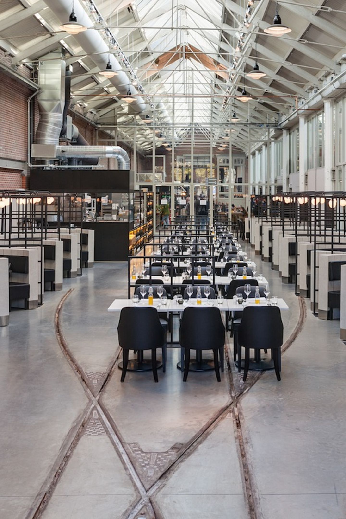 Meat West  Industrial Restaurant Amsterdam Framework Architects In Train