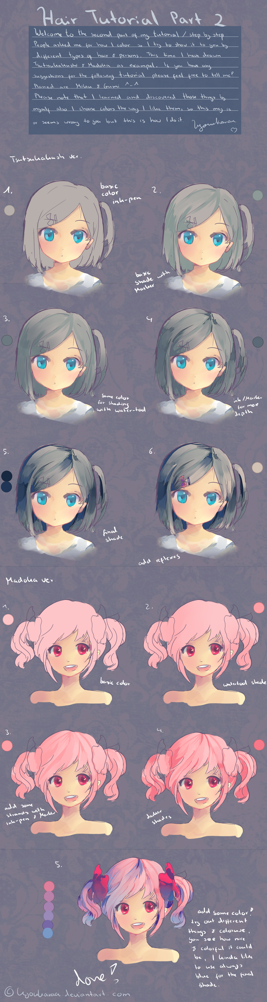 Hair Tutorial Part 2 by KyouKaraaviantart on deviantART