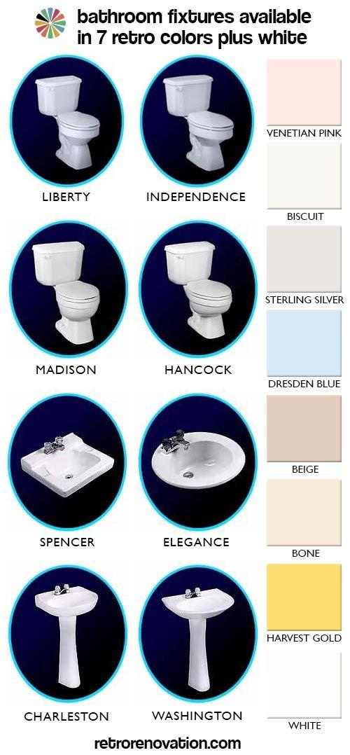 Bathroom Fixtures Plus bathroom fixtures in 7 retro colors from peerless, plus, we