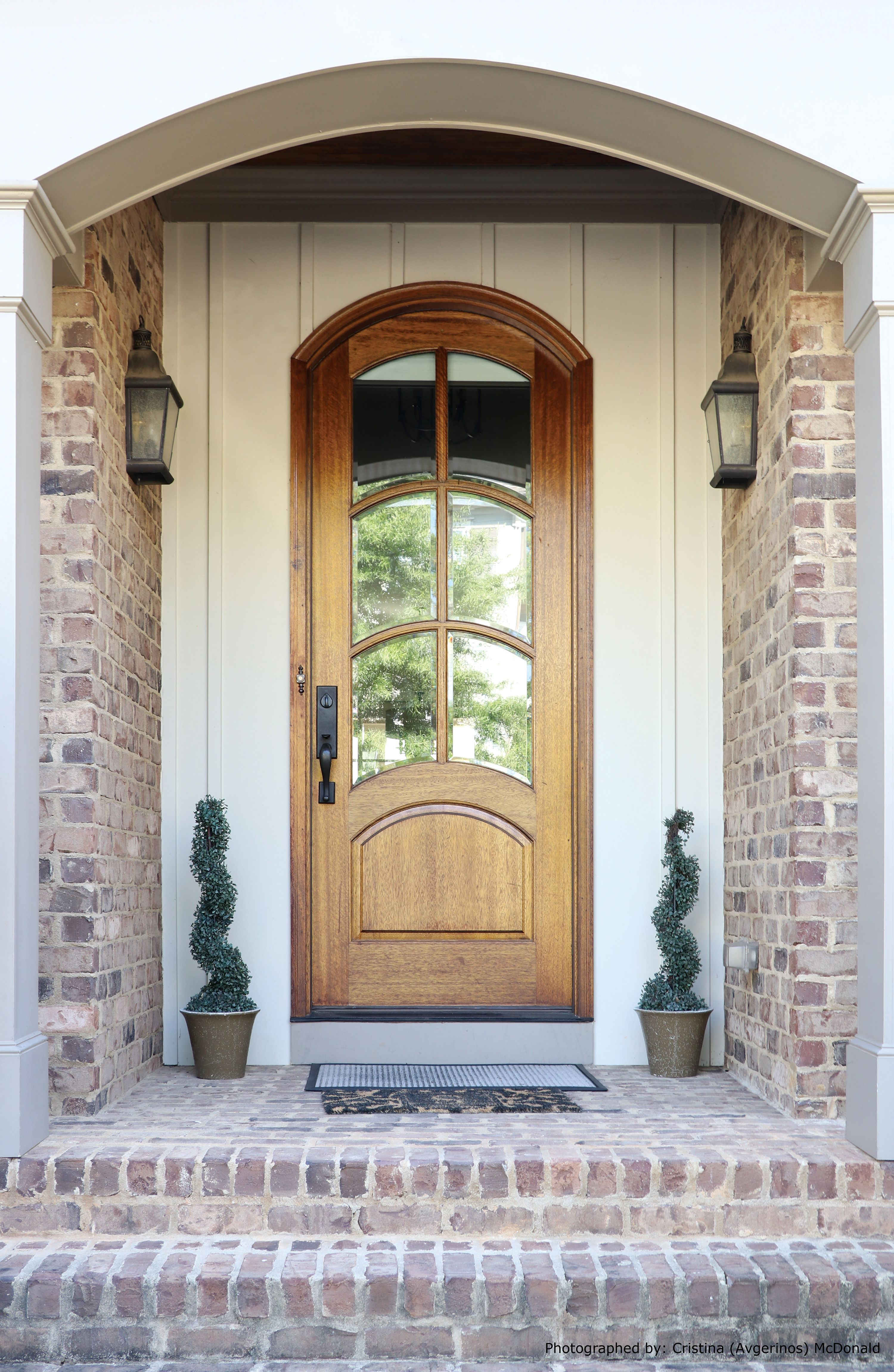 Arched Top Arched Windows Arched Panels Here S 1 Version Of Our Aberdeen Door Arched Doors French Doors Exterior Arched Exterior Doors