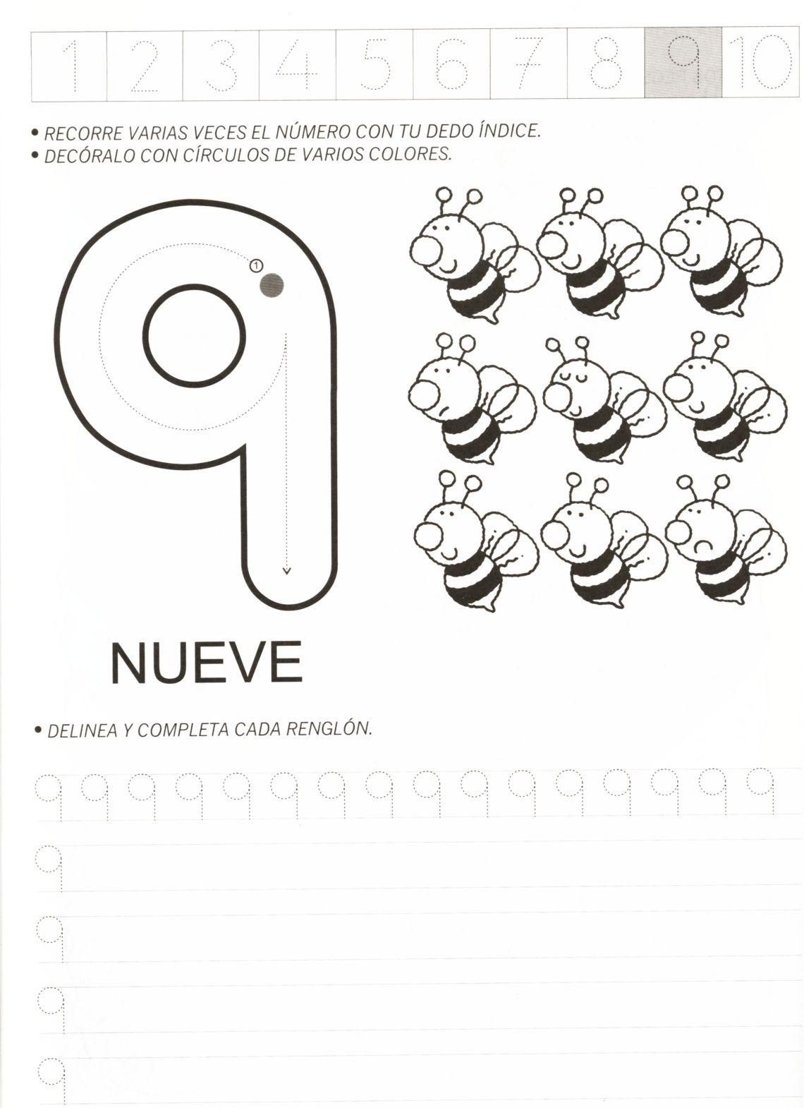 ATIVIDADES COM NUMERO 9 PARA EDUCAÇÃO INFANTIL | Rosana | Pinterest