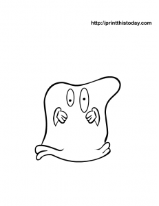 Pillow Cover Ghost Coloring Page For Kids Free Halloween