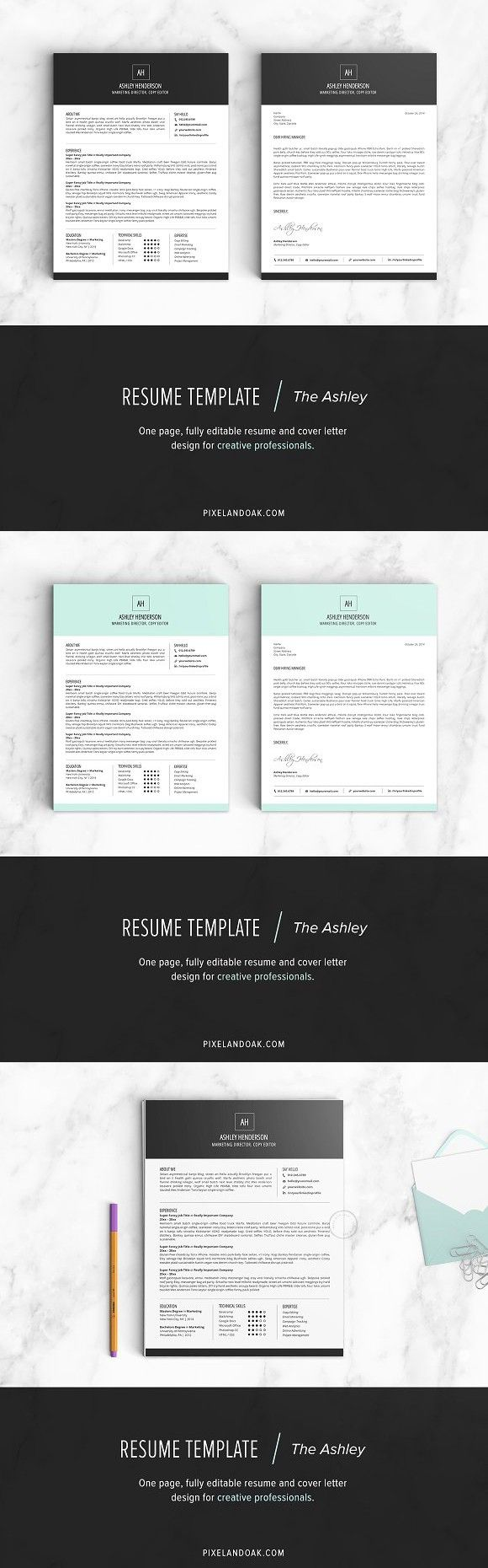 Resume Template The Ashley Resume Template
