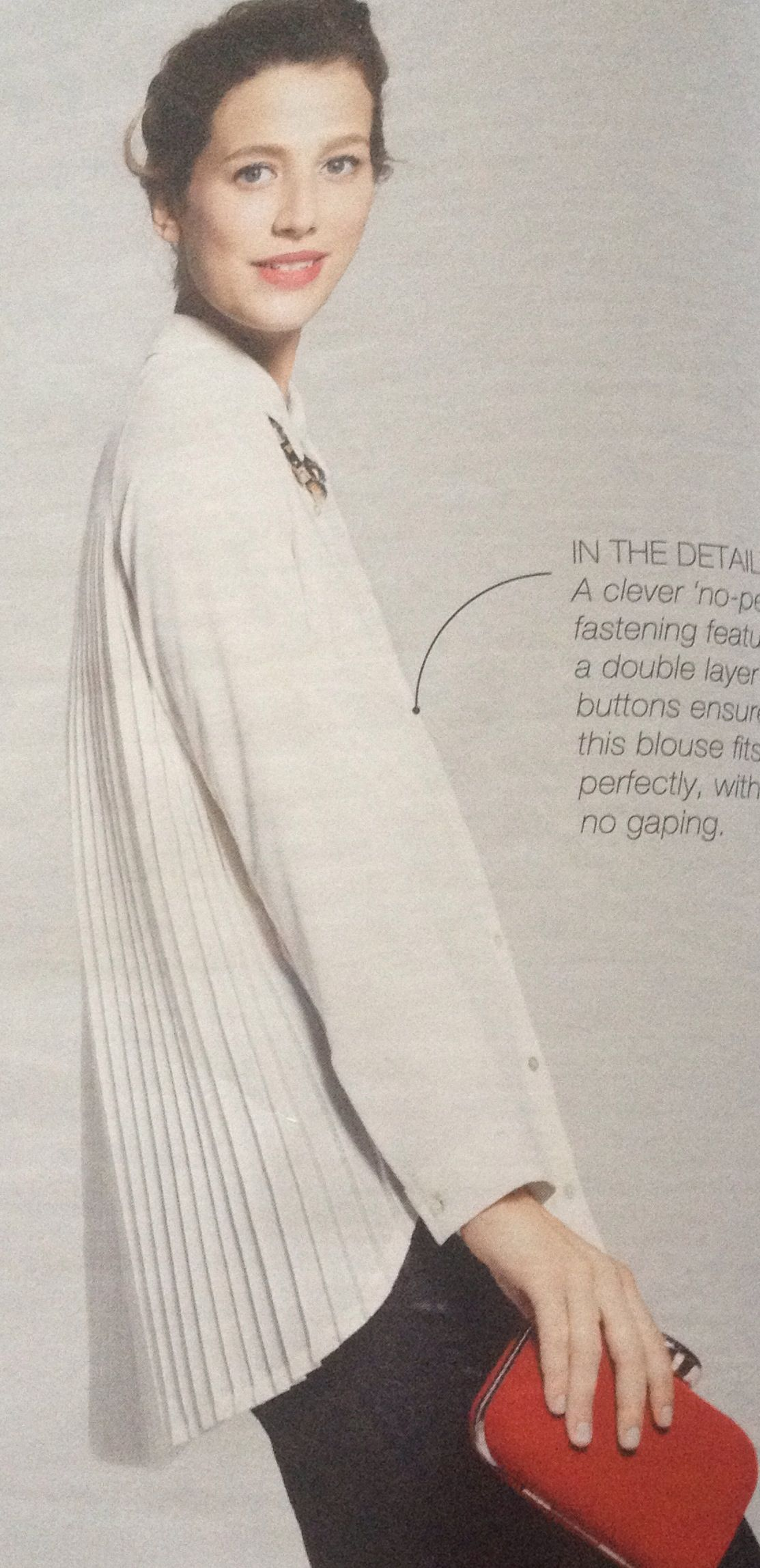 Pleated shirt, M&S