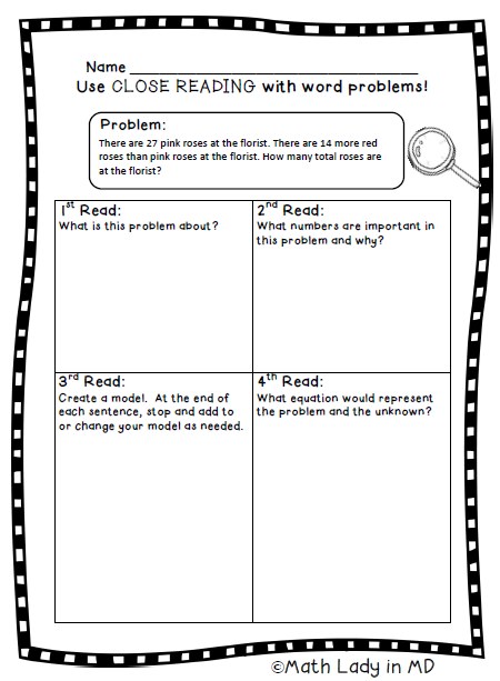 How Do Your Students Comprehend Two Step Word Problems With This Close Reading Graphic Organizer Word Problems Close Reading Close Reading Graphic Organizers