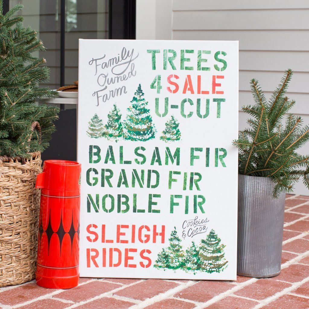 Trees 4 Sale Sign Vintage Inspired Christmas Tree Christmas Tree Farm For Sale Sign