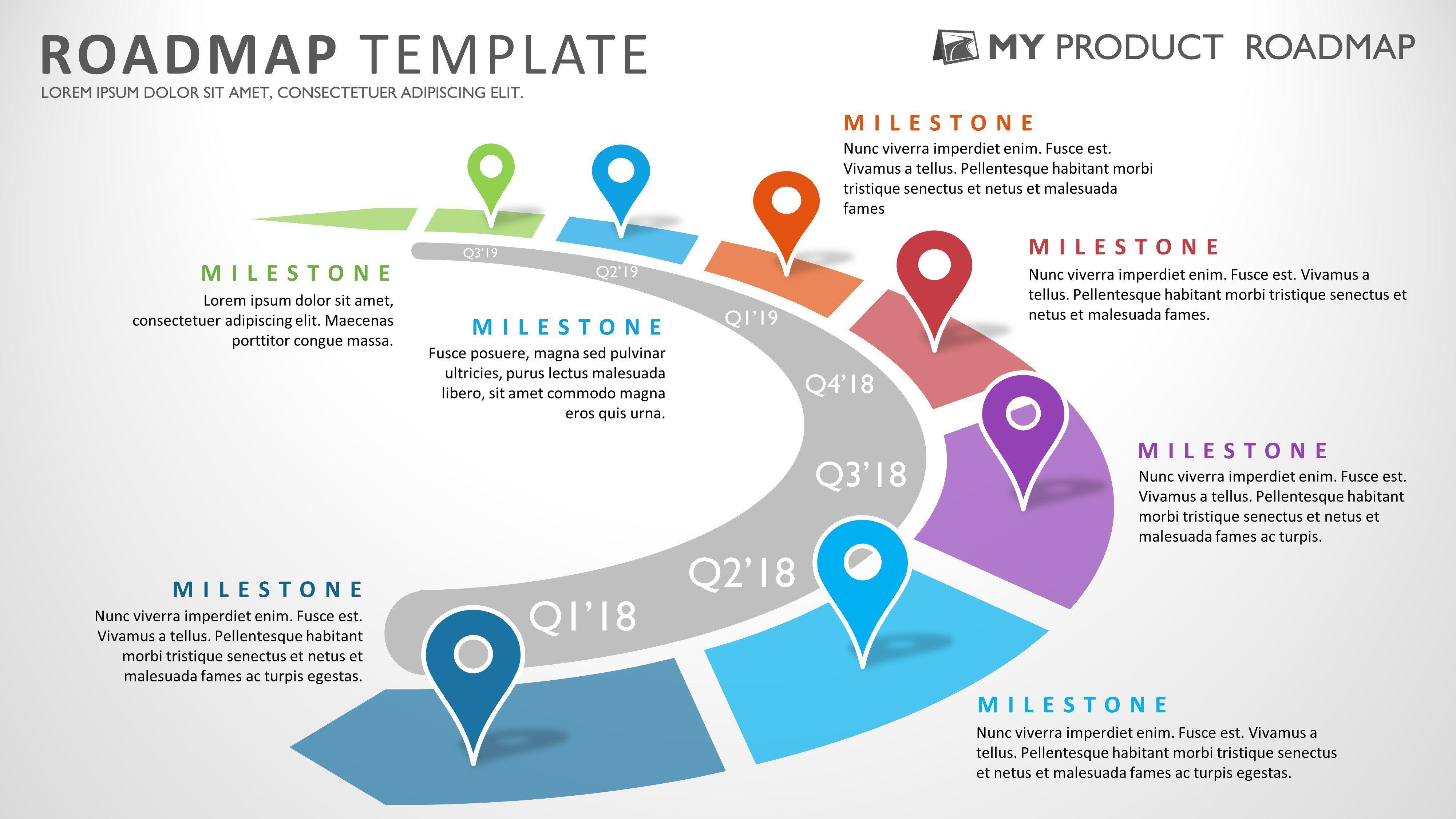 Roadmap Png Powerpoint Transparent Roadmap Powerpoint