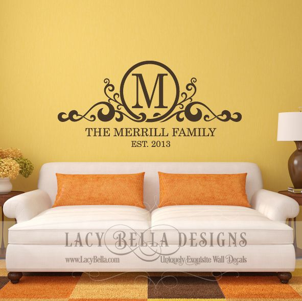 Personalized Family Name Monogram\