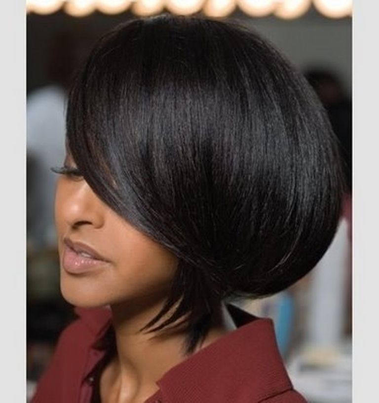 Fantastic 1000 Images About African American Asymmetrical Bob Hairstyles On Hairstyle Inspiration Daily Dogsangcom