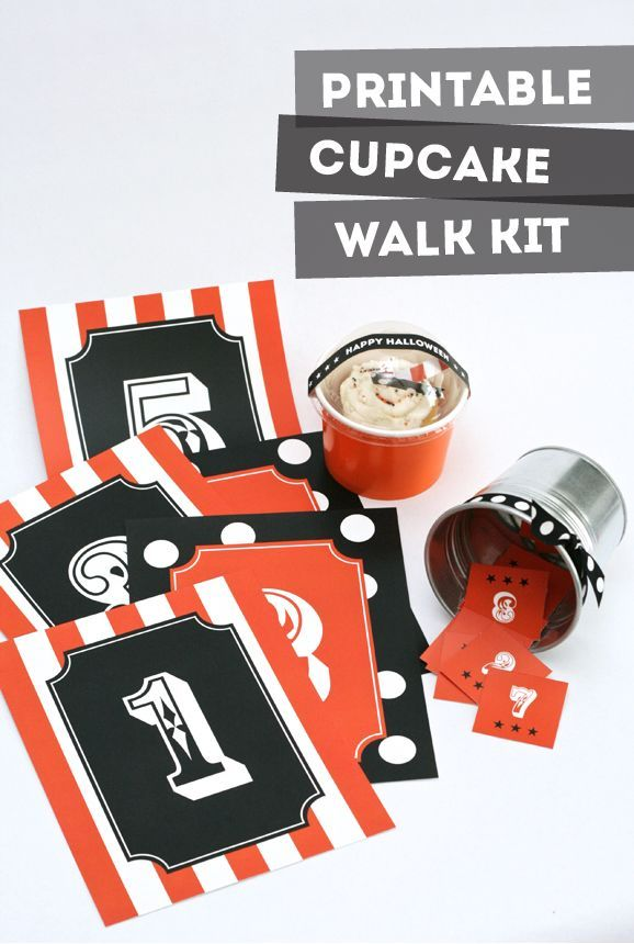 photograph regarding Cake Walk Numbers Printable named Halloween Carnival Cupcake Wander Package All Season Beloved