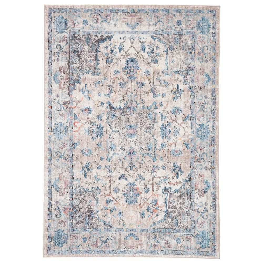 Jaipur Living Ostara Light Blue 7 Ft 10 In X 10 Ft Medallion Rectangle Rug Blue Gray In 2020 Area Throw Rugs Blue Gray Area Rug Grey Area Rug