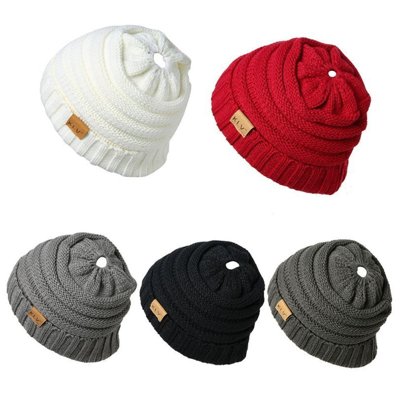 ffe483060b416b Men women baggy warm crochet winter wool knit ski beanie skull slouchy caps  hat knitting wool