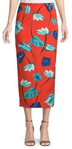 ee03e783de Diane von Furstenberg Tailored Midi Pencil Silk-Blend Skirt ...