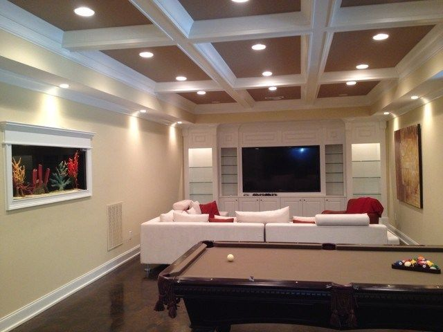 10 finished basement and rec room ideas basements basement room rh pinterest com