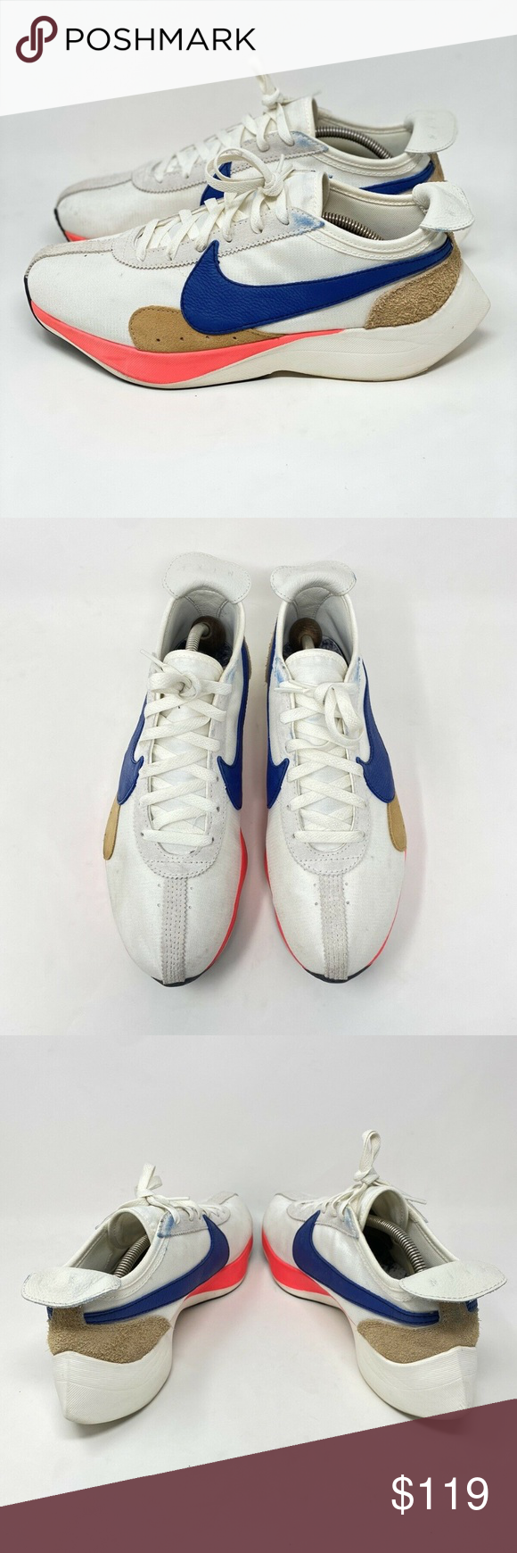 Nike Moon Racer Qs Sail Nike Moon Racer Qs Sail Mens Size 11 5 Solar Blue Style Bv7779 100 Used Shoes In Good Condition Has Small S Nike Blue Fashion Sneakers