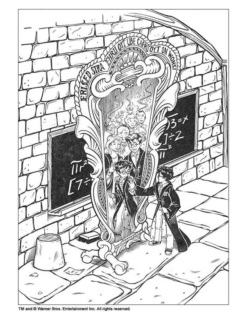 Harry Potter And The Magic Mirror Coloring Page Harry Potter Colors