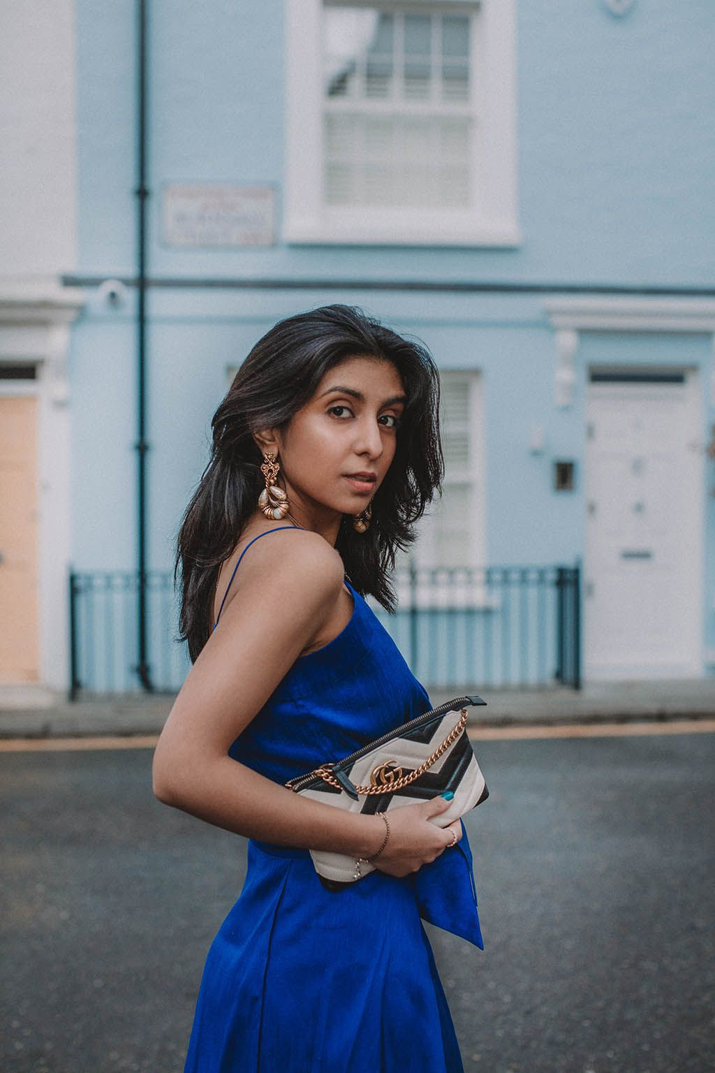 7c8824ee6b0fdf Fashion blogger Shloka Narang of The Silk Sneaker shares her style trick to  finding the perfect spring party outfit as she shares what she wore to her  ...