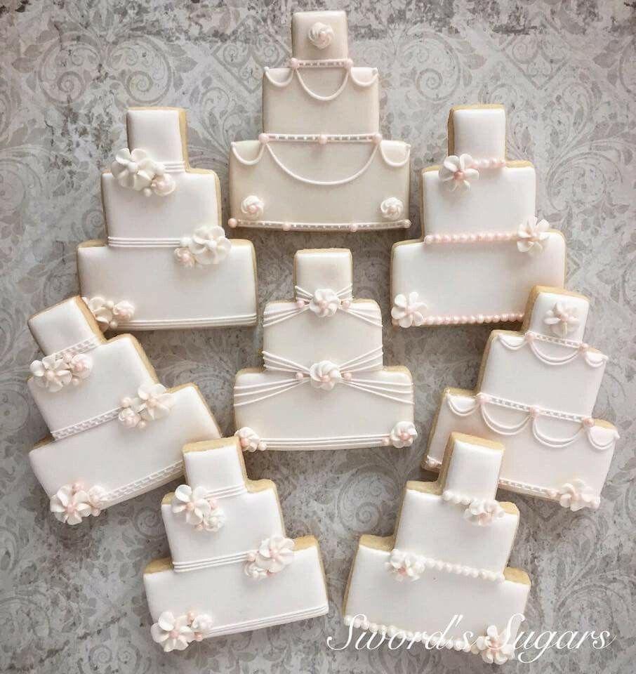 Wedding Cake Cookies Bridal Cookies Wedding Shower Cookies Wedding Cake Cookies