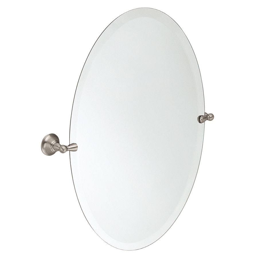 shop moen sage 22 79 in w x 26 in h oval tilting frameless bathroom rh pinterest com
