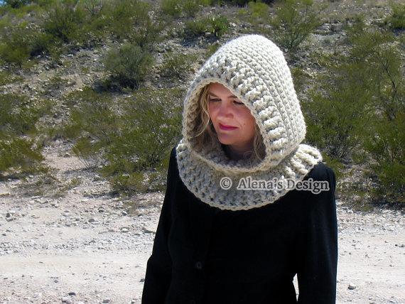 Crochet Pattern 113 Crochet Cowl Pattern Por Alenascreations Hats