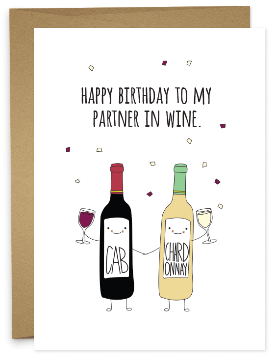 Happy Birthday Partner In Wine With Images Happy Birthday