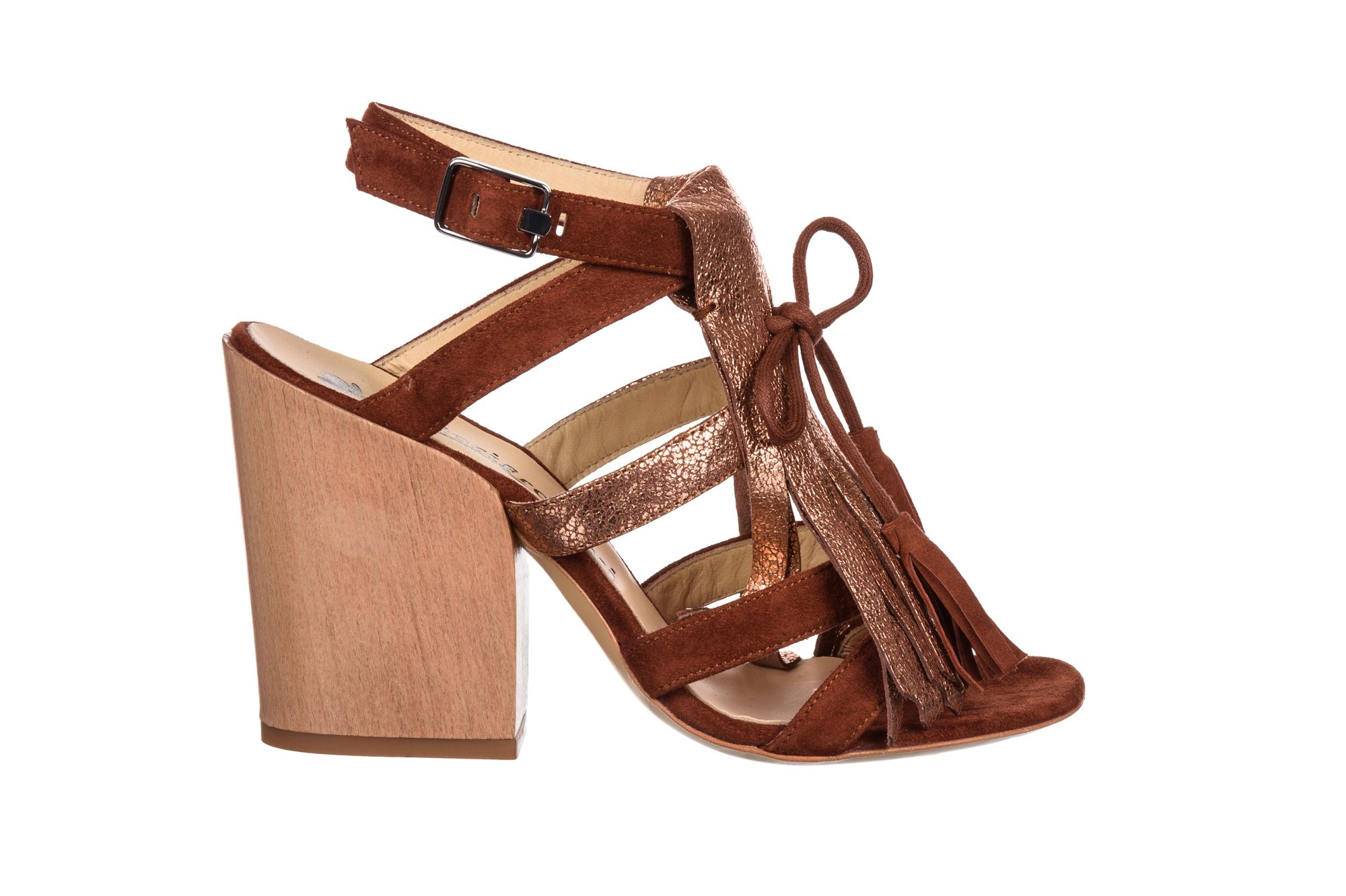 brown/gold sandal - fiorifrancesi