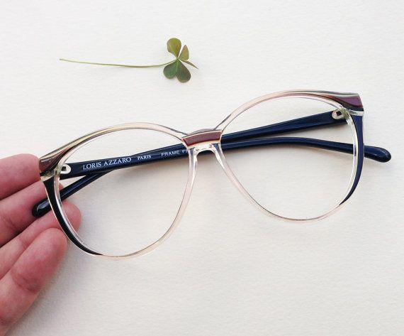 77c40cd73bf6 Loris Azzaro Paris eye glasses Frame   80s hipster eyeglasses ...