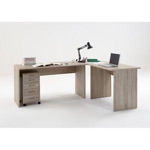details about till large corner flat pack computer desk walnut beech rh pinterest com