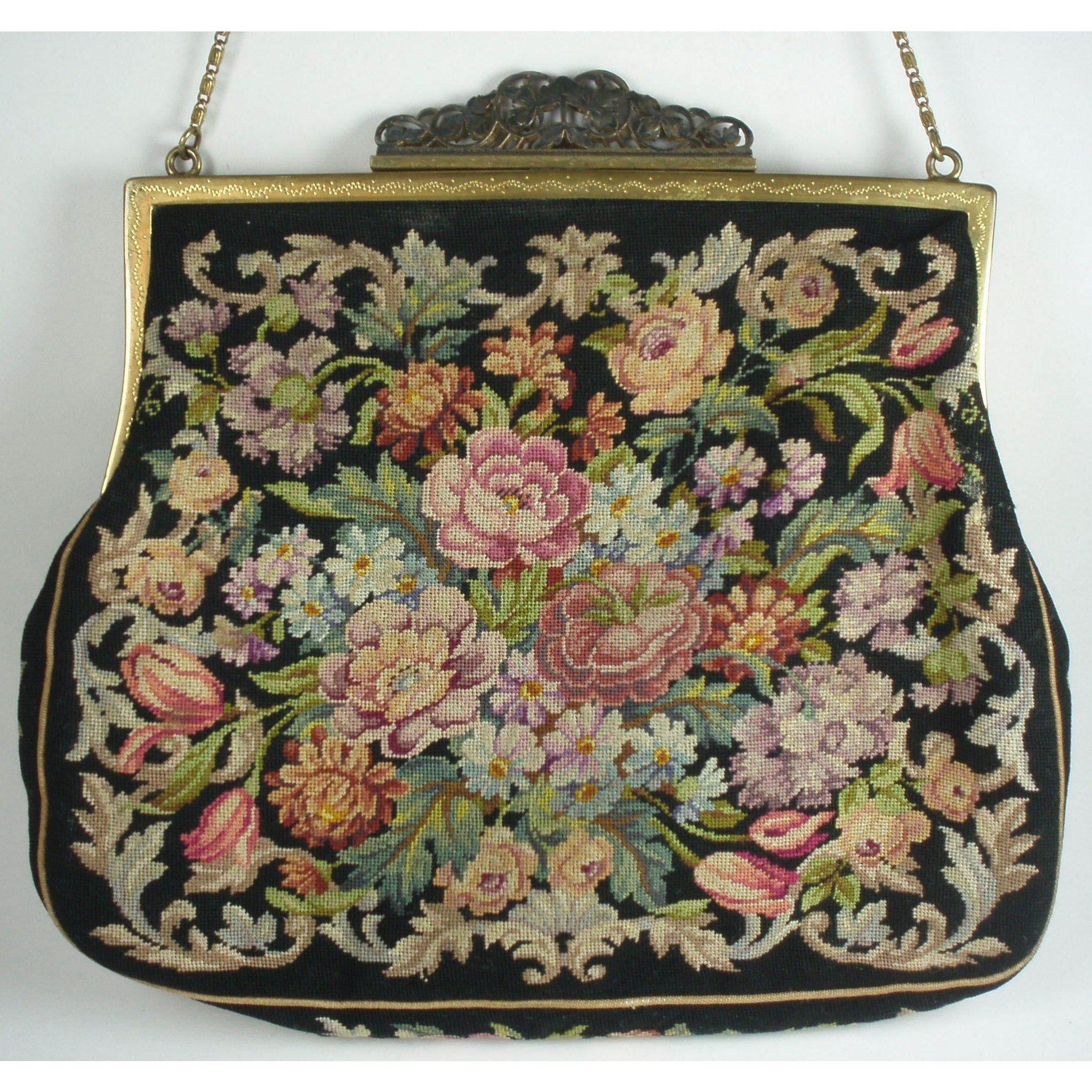 Vintage 1940s Micro Petit Point Purse Made In Austria Purses Vintage Handbags Vintage Purses