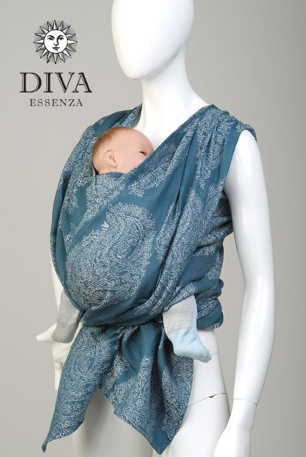 9d3abd141b9 Diva Milano Essenza Cotton Linen Eclipse Best Baby Carrier