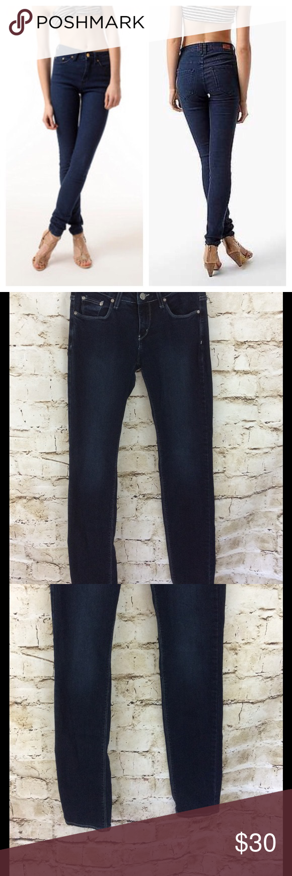 """Urban Outfitters BDG skinny jeans Perfect dark blue skinny jeans!  Great fit high rise jeans no fading excellent condition 32"""" inseam Urban Outfitters Jeans Skinny"""