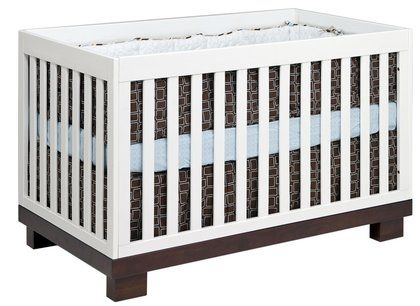 Babyletto Modo Crib In Two Tone Espresso White Diaperscomnursery
