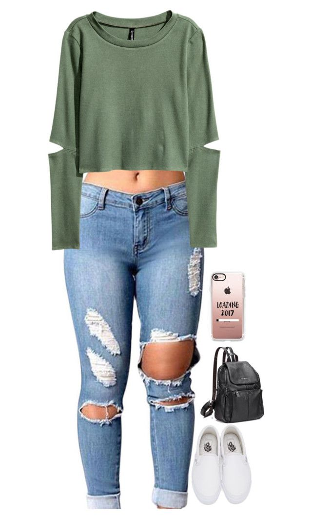 Untitled 2598 By Anisaortiz Liked On Polyvore Featuring H M Vans And Casetify Womens Ripped Jeans Ripped Jeans Style Ripped Jeans Outfit