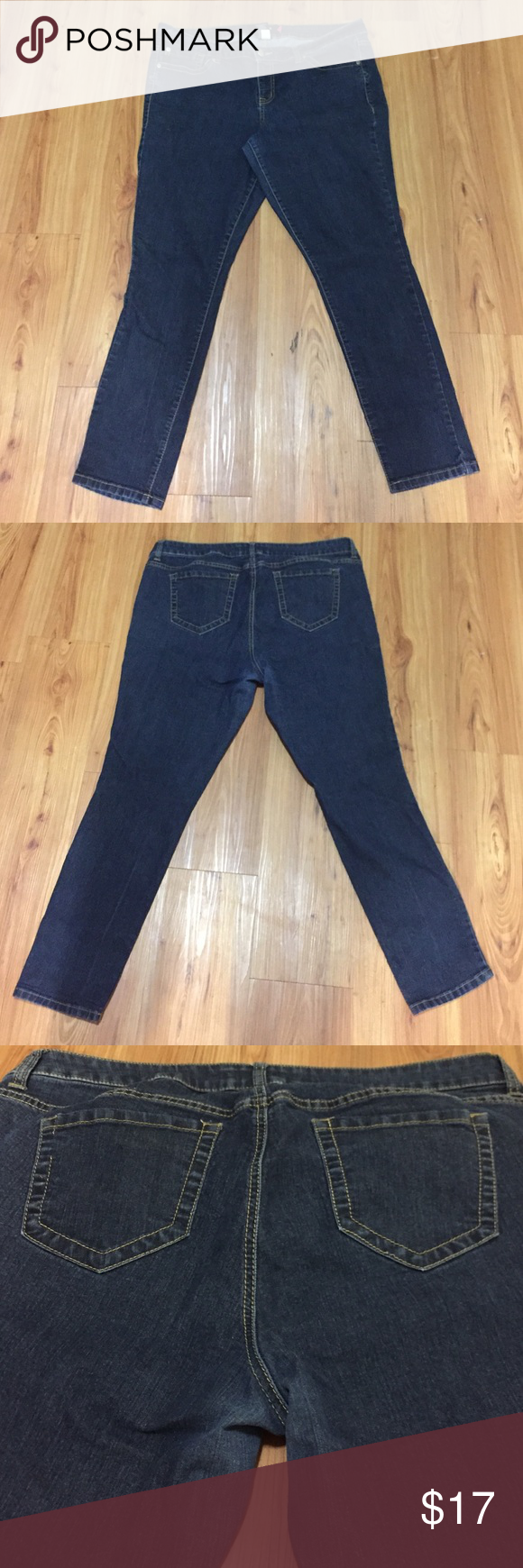 """Torrid Sz 20S Skinny Jeans Torrid Sz 20S skinny jeans. 5 pockets. GUC with a little wear on inner thigh. Waist: 40""""; Rise: 10""""; Inseam: 29"""". torrid Jeans Skinny"""