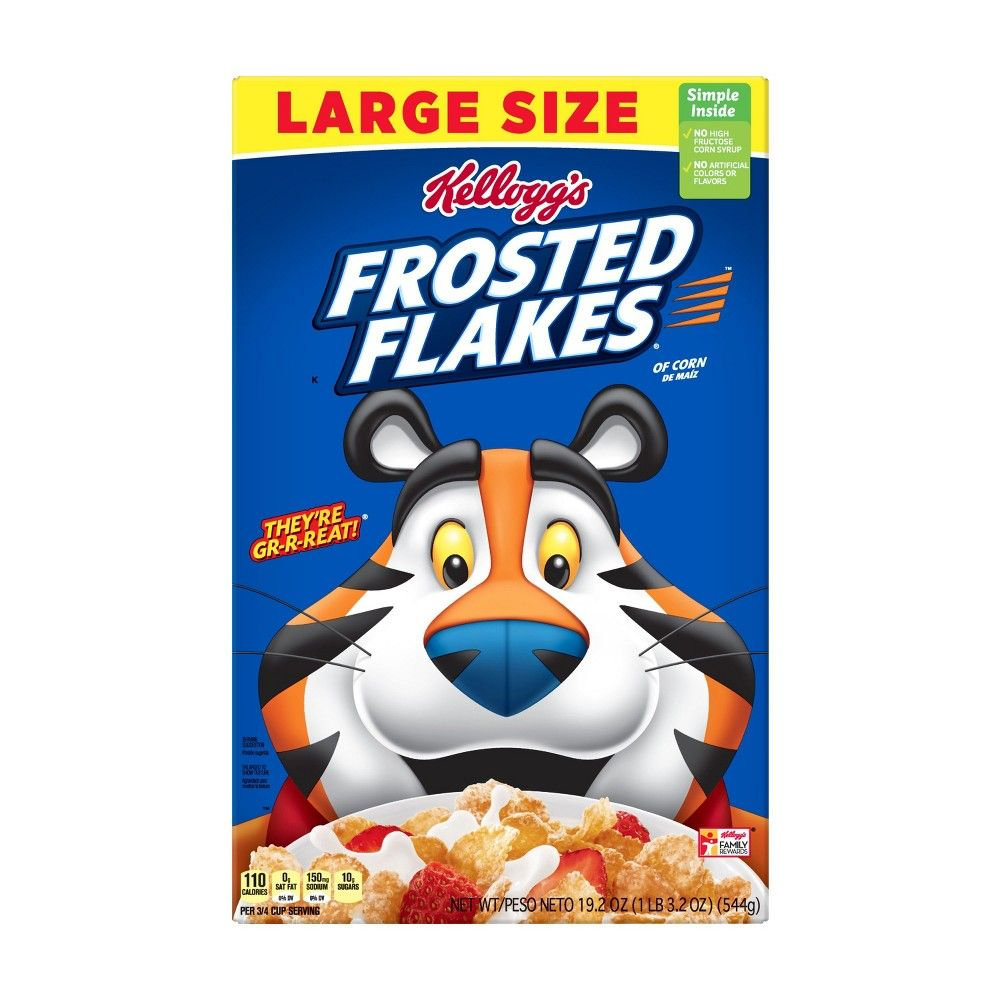 Frosted Flakes Breakfast Cereal 19 2oz Kellogg S In 2020