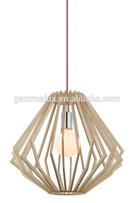 e27 diamond pendant light creative wood shade hanging light pendant