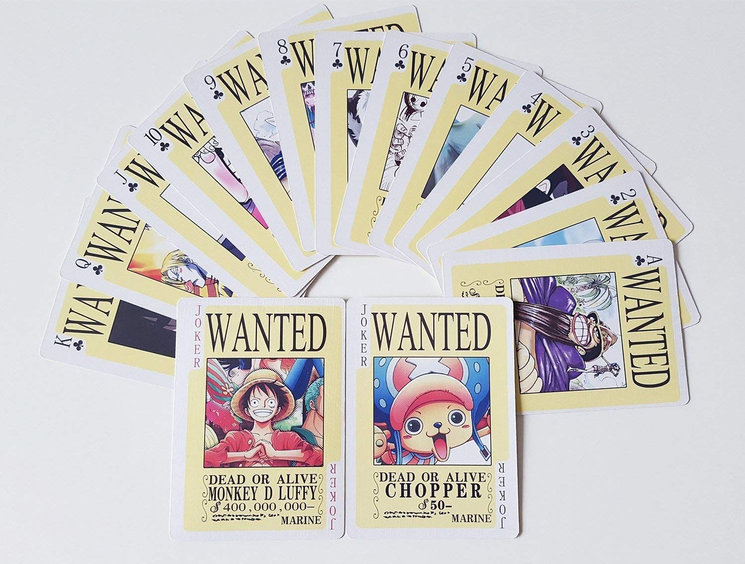 Anime one piece luffy and characters playing cards poker