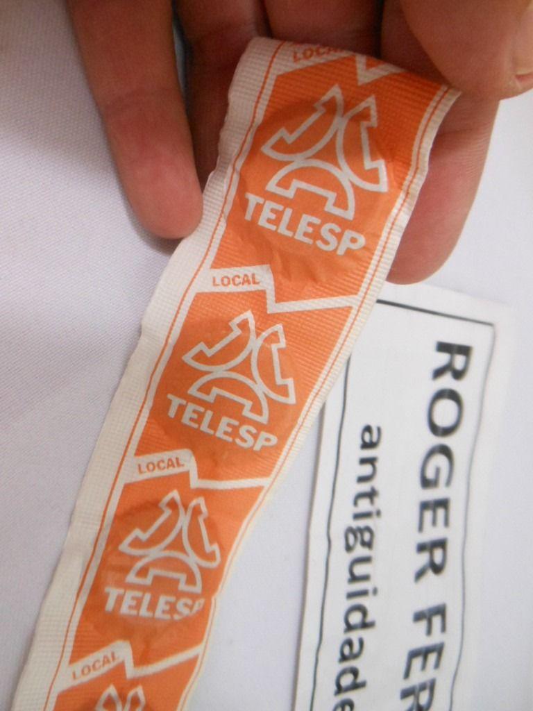 5d3785ed9 Fichas De Telefone Orelhão Antigas 10 Fichas Lacradas Telesp - R  45 ...