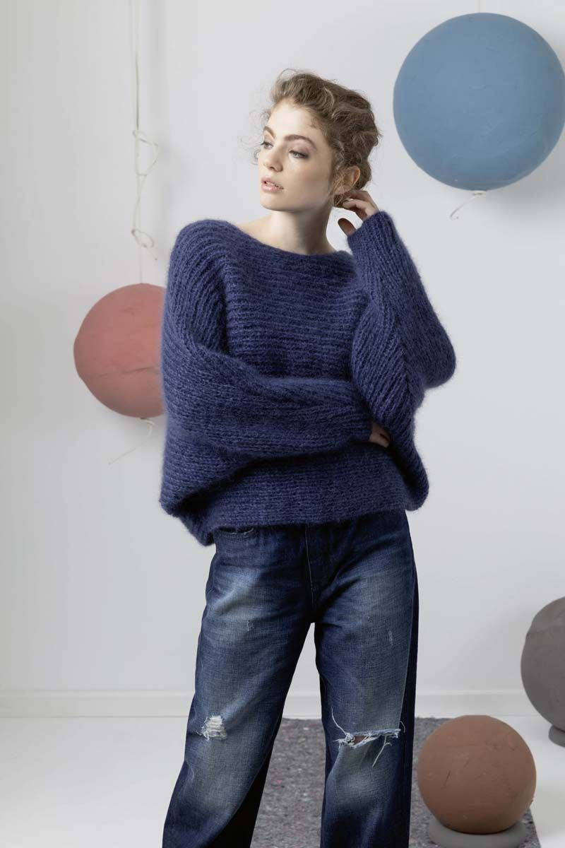 Pullover Stricken Trend Langyarns Fatto A Mano 247 Casual 15 Mohair Trend