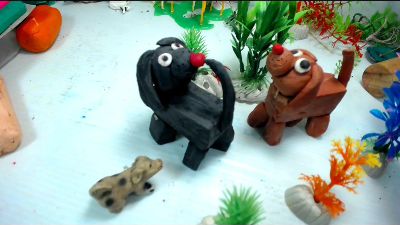 Play-doh art | Teaching children how to do art statue crafting a ...