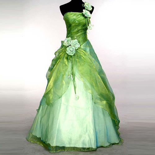 Evening Gown Prom Ball Wedding veil Dress green SIZE6 8 10 12 14 16 Freeshipping | eBay